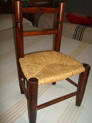 Exemple de siège paillé